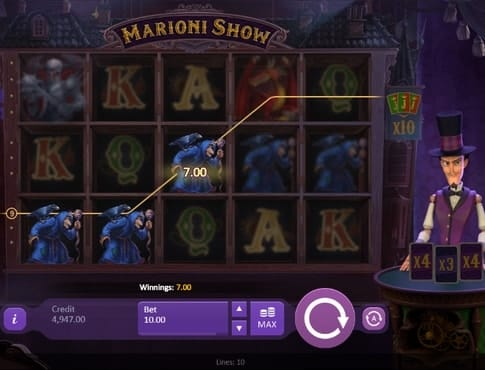 Призовая комбинация в аппарате Marioni Show