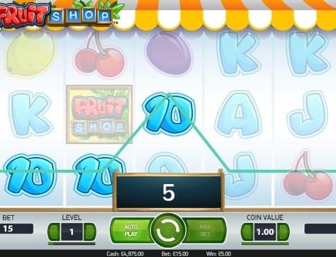 Выигрышная комбинация в автомате Fruit Shop