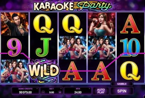 Дикий символ в автомате Karaoke Party