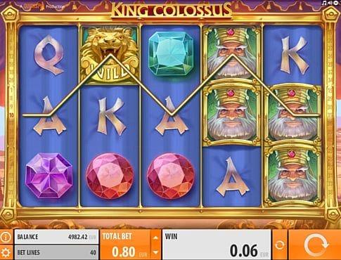 Выигрышная комбинация на линии в автомате King Colossus
