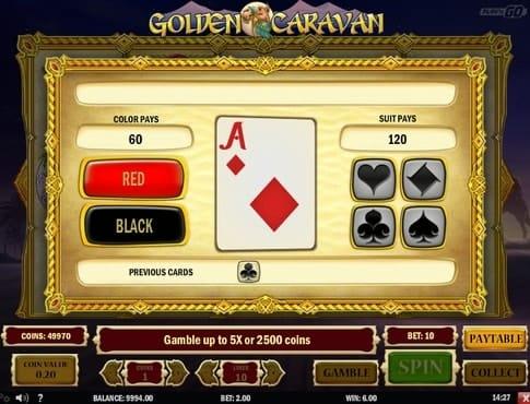 Раунд на удвоение в игре Golden Caravan