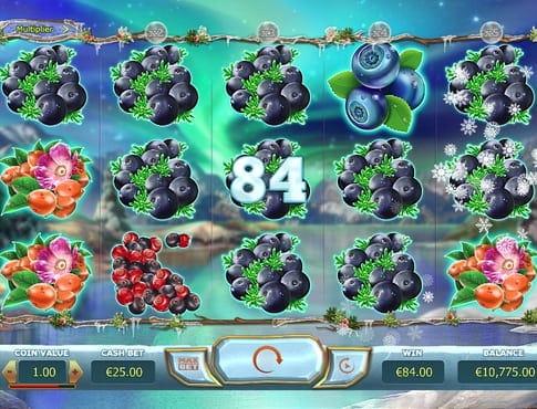 Комбинации на линиях в игре Winter Berries
