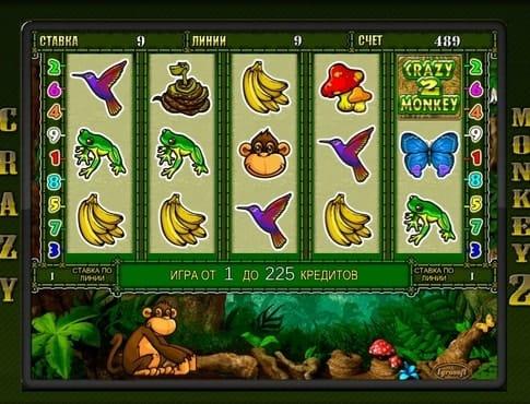 Комбинация символов в автомате Crazy Monkey 2