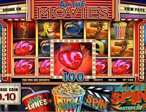 Призовая комбинация на линии в игровом автомате At the Movies