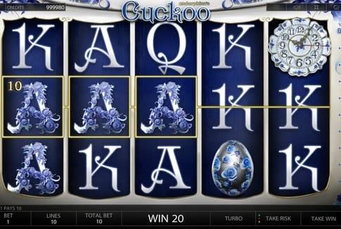 Призовая комбинация символов в игровом автмате Cuckoo