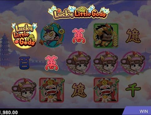Призовая комбинация символов в игровом автомате Lucky Little Gods