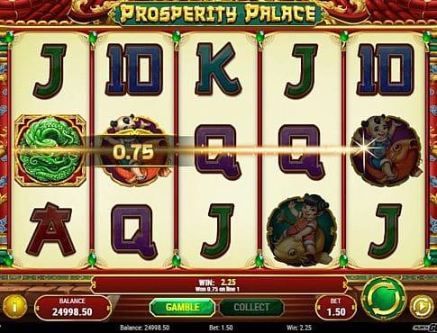 Призовая комбинация на линии в игровом автомате Prosperity Palace