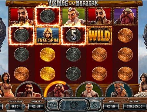Призовая комбинация символов в игровом автомате Vikings go Berzerk