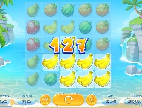 Комбинация из бананов в онлайн автомате Sunny Shores