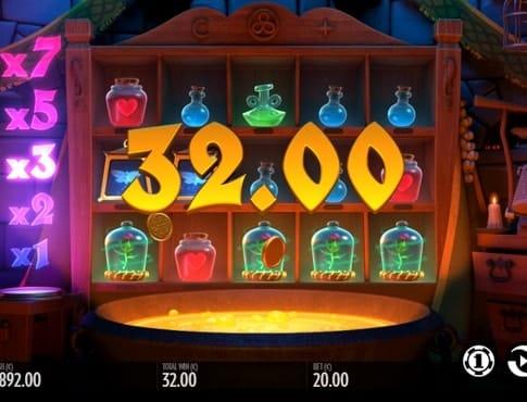 Выигрышная комбинация в слоте Frog Grog