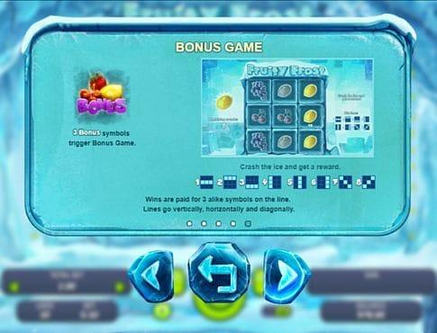 Правила бонусной игры в слоте Fruity Frost