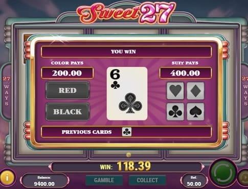 Риск игра в слоте Sweet 27