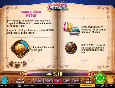 Игровой бонус в слоте Sweet Alchemy